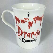 Dracula Transylvania Cocktail Halloween Mug Cup Romania Bone China Vampire Blood