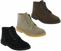 Roamers Desert Boots Mens 5 Eye Classic Real Suede Leather Ankle Boots UK 6-12