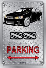 Parking Sign - Metal - BROCK HDT VH RETRO SS VE BLACK Checkerplate look