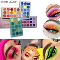 60 COLORS BEAUTY GLAZED Glitter Eyeshadow Palette Pigment Shimmer Metalic G9I3