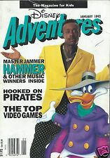 Disney Adventures Magazine January 1992 MC Hammer Darkwing Duck Pirates Ducktale