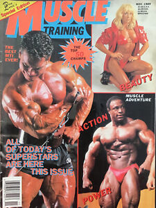 Muscle  Training Illustrated November 1989 Lee Haney Rich Gaspari Cory Everson