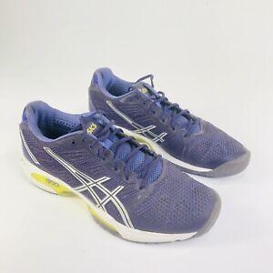 ASICS GEL-Solution Speed 2 Womens Size 10.5 Purple Sneaker Tennis Shoes E450Y