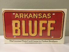 Arkansas Bluff License Plate Card Game Parker Brothers Vintage 1975 NEW