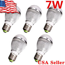 5 X 12V High Power LED Lamp Bulb - E27 E26 7W White Light Energy Saving
