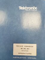 TEKTRONIX 7D12 A/D CONVERTER M1 M2  M3 WITH OPTIONS OPERATORS INSTRUCTION MANUAL