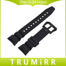 Black Silicone Rubber Watchband for Casio SGW-100 Sports Waterproof Watch Band
