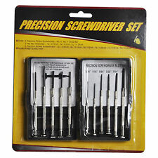 12pc Precision Screwdriver Set w/ Storage Case Phillips Slotted Hex Key Wrenches