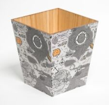 VINTAGE Mappa Carta Straccia Bin/Cesto in legno fatto a mano nel Regno Unito per la casa e Alberghi