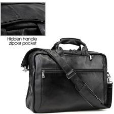 """Mens 17"""" Laptop Backpack Messenger Shoulder Bag Briefcase Portfolio Tote Leather"""