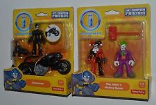 CATWOMAN and Catcycle & HARLEY QUINN w JOKER Imaginext DC Super Friends MIP