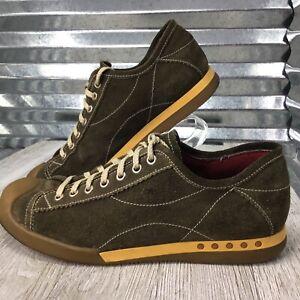Rush Gordon Rush Green Suede Fashion Sneaker Comfort Walking Retro Mens Shoe 9.5