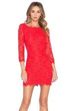 NWT Diane von Furstenberg Zarita Lace Dress Sundried Tomato 8 $348