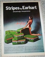 1971 advertising page - Amelia Earhart luggage Sexy Nude Girl stripes PRINT AD