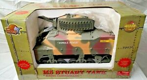 """Ultimate Soldier M5 Stuart Tank """"Jungle Fever"""" 1/6th Radio Controlled New In Box"""