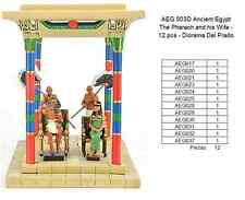 AEGD 003-EGYPT THE PHARAON AND HIS WIFE FARAON Y MUJER EGIPTO 12 PCS DEL PRADO
