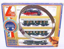 Lima HO German State Railways BR-80 STEAM LOCOMOTIVE & 3 PASSENGER WAGON Set MIB