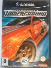 NEED FOR SPEED GAME CUBE NEED FOR SPEED UNDERGROUND NINTENDO GAMECUBE