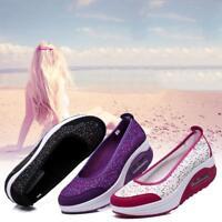Women Casual Shape Ups Walking Fitness Toning Boat Shoes Platform Wedge Sneakers