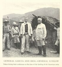 Spanish-American War General Garcia & General Ludlow Conference 9 1/4 x 10 Photo