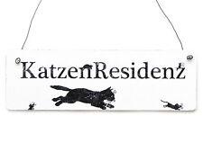 Vintage Schild Türschild Dekoschild KATZENRESIDENZ Dekoration Katze Kater