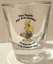 Vintage The Tenth Pam Am Games Indianapolis Shot Glass 7-23 August 1987
