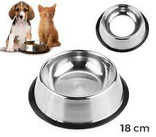 45000 Ciotola in acciaio per cani e gatti dotata di antiscivolo 18 cm
