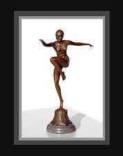 Art Deco Bronze Skulptur Figur Statue F. Preiss