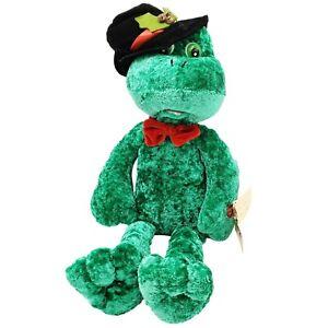 Chantilly Lane Musical Louie Frog Christmas Singing Plush Rare Working PBC 2004