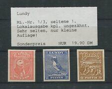 GB UK LUNDY LOKALPOST 1929 BIRDS PUFFIN PUFFINS VÖGEL PAPAGEIENTAUCHER m0013