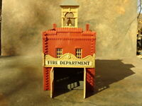 HO Scale Model Railroad 2 Story Red Brick Fire Station