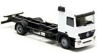 Herpa MB Actros MP2 Wechselbrücken Motorwagen weiß neutral LKW Modell 1:87 H0