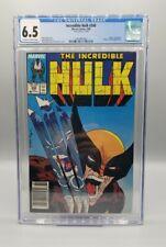 Incredible Hulk #340 *MARK JEWELERS* CGC 6.5 McFarlane Wolverine Classic Cover