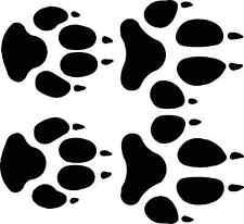 wolf  track / footprint sticker / animal paw print decal - set of 4 tracks