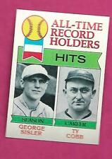 1979 TOPPS # 411 TY COBB  RECORD  NRMT-MT CARD (INV# C0937)