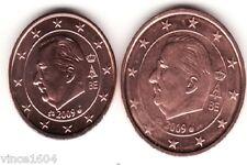 lot 1,2 cts cent centimes euro Belgique / Belgium 2009 , qualité UNC !!