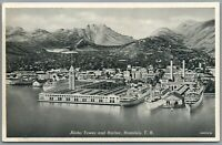 Postcard Aloha Tower and Harbor Honolulu Hawaii HI steamships boats unposted