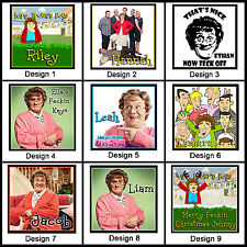 Personalised Mrs Browns Boys Key Ring - 4cm Square - Keyring Chain - Gift Idea