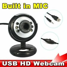 Kebidu date USB 2.0 numérique HD 30.0 méga caméra Webcam Pixels 6 LED Web Cam