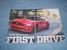 "2015 Mustang Eco & 5.0 New Car Info Article ""First Drive"""