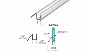3 CRL CLEAR CUT TO SIZE SHOWER DOOR REPLACEMENT SWEEP, WIPE, SEAL For 3/8 Glass