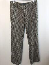 7TH AVENUE Women's Career Work Casual Dress Pants Sz 8 Geometric Black