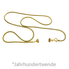 Vintage Snake Schlangen Halskette Silber vergoldet Magnet Verschluß 🍀🍀🍀