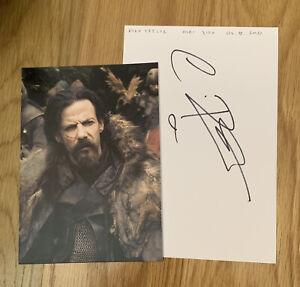 Noah Taylor Signed Sheet 210mm x 140mm Game of Thrones Peaky Blinders Wonka