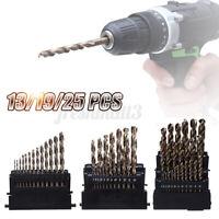 13/19/25PCS M42 HSS Drill Bit Set 3 Edge Head 8%High Cobalt Bit Twist Drill