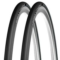 Pair of Black Michelin Lithion folding Road Racing bike cycle Tyre 700 25C