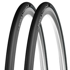 Paire de Noir Michelin Lithion Pliable Vélo Course Route Cycle Pneu 700 25C