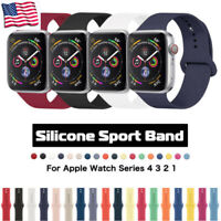 For Apple Watch Band Silica 5-1 Iwatch Replacement Wrist Strap beautiful color