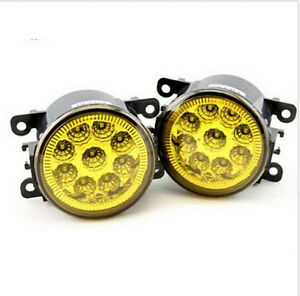 2PC Yellow Front LED Fog Lamp Pair Light Bumper Driving For Ford Focus 2007-2014