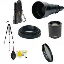 TELEPHOTO ZOOM LENS 650MM-2600MM + TRIPOD + GIFTS FOR NIKON  D5100 D5200 D5300